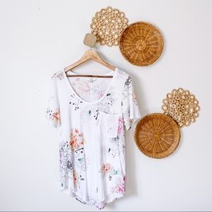 Tops - Babaton Floral Cotton Modal T-Shirt, Sz M